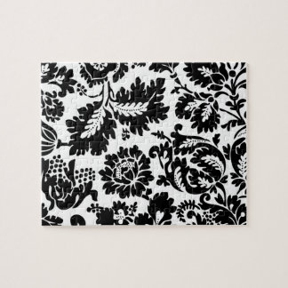 Vintage Black and White Damask Puzzles