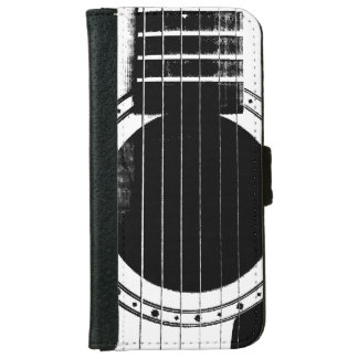 Vintage Black and White Guitar iPhone 6 Wallet Case