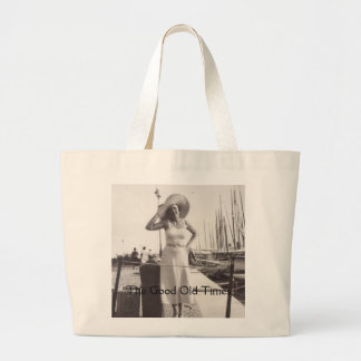 Vintage black and white photo Cannes, France 1930s Canvas Bag
