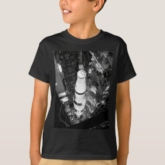 Vintage Black and White Photograph of Saturn V T-Shirt