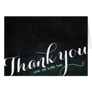 Vintage Black And White | WEDDING THANK YOU CARD