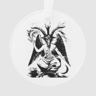 Vintage Black Baphomet Ornament