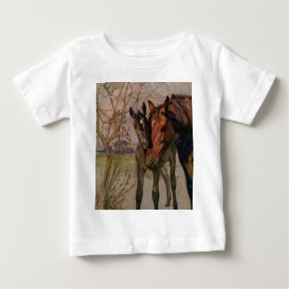 "Vintage Black Beauty horse ""My Mother and I"" Baby T-Shirt"
