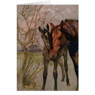 "Vintage Black Beauty horse ""My Mother and I"" Card"