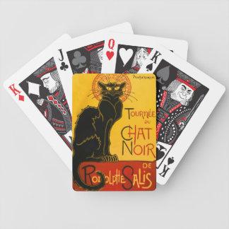 Vintage Black Cat Art Nouveau Chat Noir Steinlen Bicycle Playing Cards