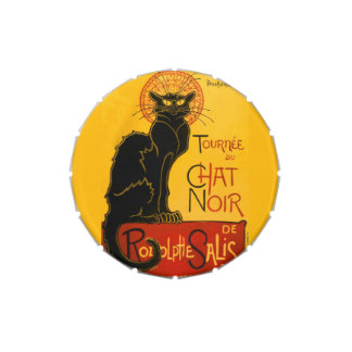 Vintage Black Cat Art Nouveau Paris Cute Chat Noir