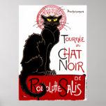 Vintage Black Cat Le Chat Noir Poster