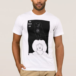 Vintage Black Cat T-Shirt by Aubrey Beardsley