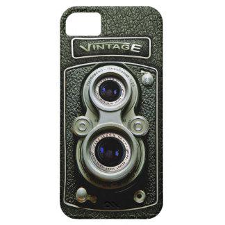 Vintage Black Doff Double lens camera case