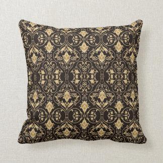 Vintage Black Gold scroll pillow