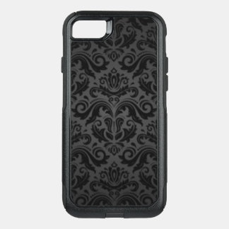 Vintage Black & Gray Damask OtterBox Commuter iPhone 8/7 Case