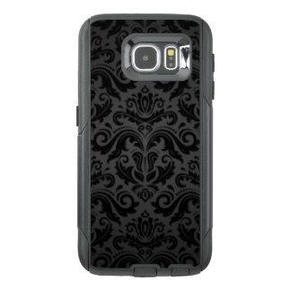 Vintage Black & Gray Damask OtterBox Samsung Galaxy S6 Case
