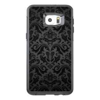 Vintage Black & Gray Damask OtterBox Samsung Galaxy S6 Edge Plus Case