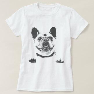Vintage Black Grey French Bulldog Graphic T-Shirt