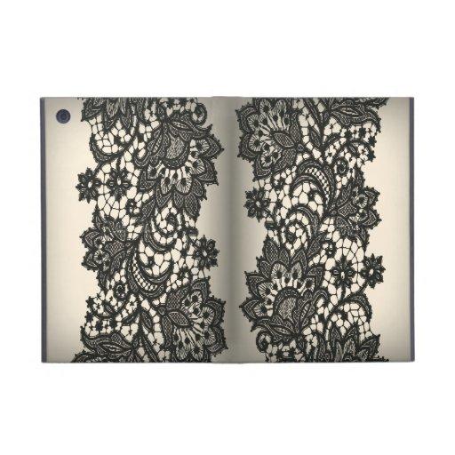 Vintage black Lace beige Paris fashion iPad Mini Cover