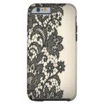 Vintage black Lace beige Paris fashion iPhone5case Tough iPhone 6 Case