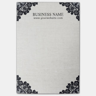 Vintage Black Laced Makeup Artist Hair Salon Post-it Notes