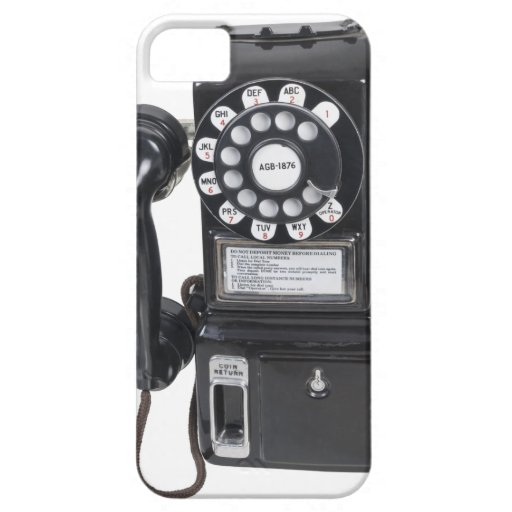Vintage Black Pay Phone Case For iPhone 5/5S