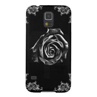 Vintage Black  rose by artD design Galaxy S5 Case