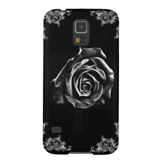 Vintage Black  rose by artD design Galaxy S5 Cases