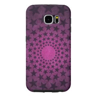 vintage black stars on purple background vector samsung galaxy s6 cases