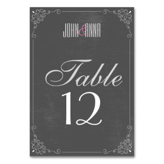 Vintage black vines personalized table cards