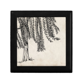 Vintage Black Weeping Willow Tree Gift Box