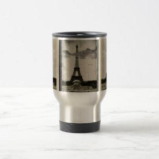 Vintage Black & White Eiffel Tower Travel Mug