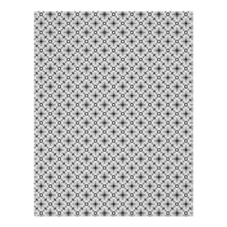 Vintage Black & White Plaid Scrapbook Paper Pages