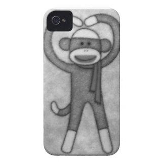 Vintage Black & White Sock Monkey  Iphone 4 Case