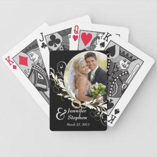 Vintage Black & White Wedding Photo Playing Cards