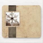 Vintage Black Winter Snowflake