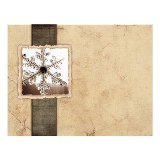 Vintage Black Winter Snowflake Letterhead Design