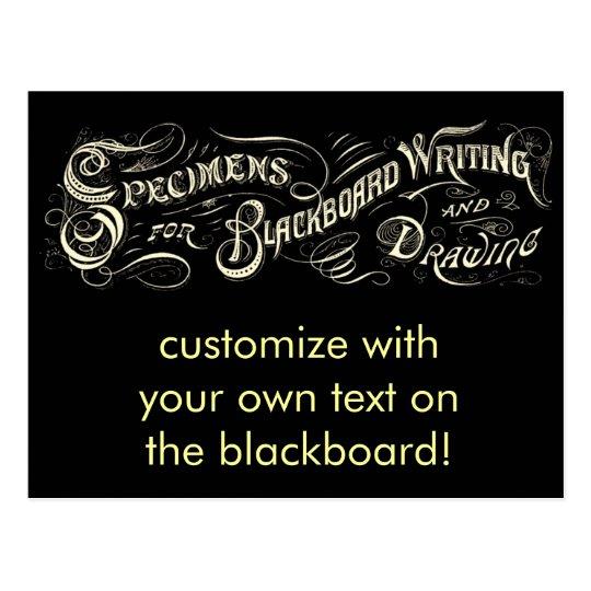 Vintage Blackboard Writing Drawing illust-Postcard Postcard