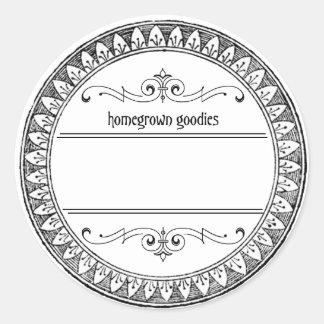 Vintage Blank Canning Jar Labels Round Sticker