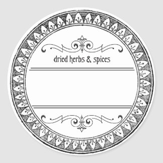 Vintage Blank Herbs and Spices Labels Round Sticker