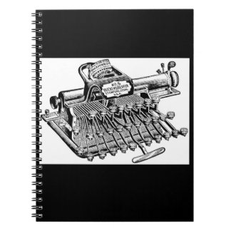 Vintage Blickensderfer No. 5 Typewriter Spiral Notebook