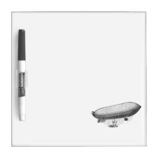 Vintage Blimp Old Zeppelin Retro Hot Air Balloon Dry Erase Whiteboards