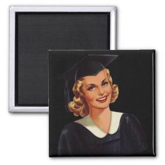 Vintage Blonde Educated Lady Magnet