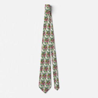 Vintage Blooming Flowers, Spring Garden Roses Tie