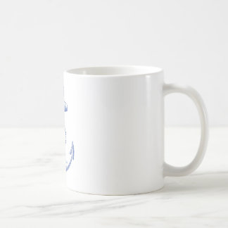 vintage blue anchor with rope coffee mug