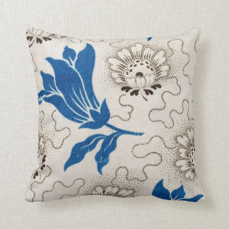 Vintage Blue and Ivory Floral Pattern | Pillow