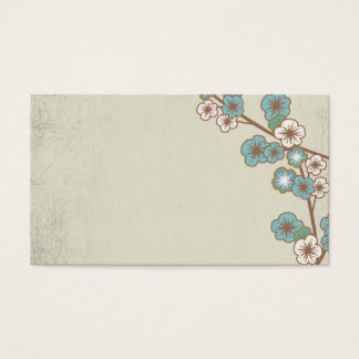 Vintage blue and white sakuras Business Card