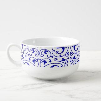Vintage Blue and White Swirl Soup Mug