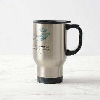 Vintage Blue Bird Travel Mug