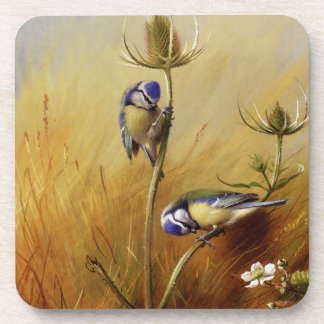 Vintage Blue Birds and Wheat Grasses Coaster