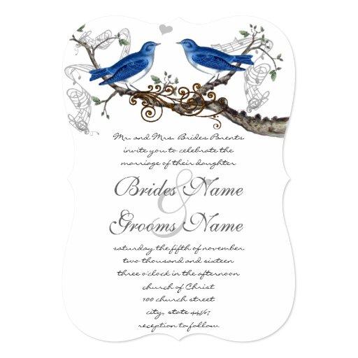 vintage blue birds wedding invitations zazzle