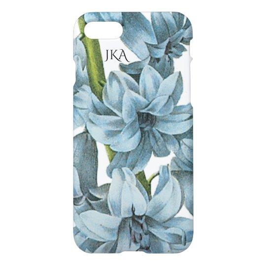 Vintage Blue Botanical Personalized iPhone 8/7 Case