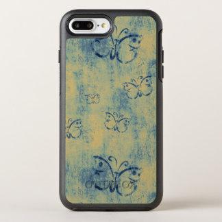 Vintage Blue Butterflies Pattern OtterBox Symmetry iPhone 8 Plus/7 Plus Case