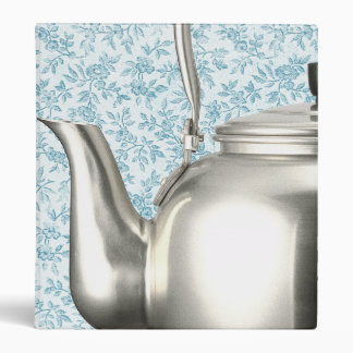 Vintage Blue Calico Kettle Personalized Recipe Binders